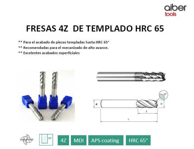 FRESAS DE TEMPLADO