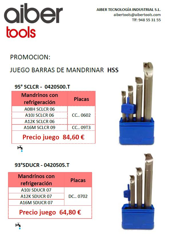 PROMOCION JUEGO BARRAS DE MANDRINAR HSS
